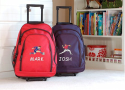 Boys and Girls Personalized Rolling Backpack