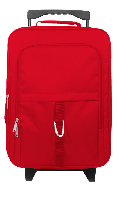 Kids Small Rolling carry-on in red