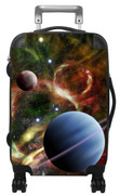 Kids Hardside Photo Luggage Space Nebula