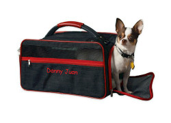 Personalized Pet Carrier Denim