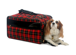 Personalized Pet Carrier Plaid