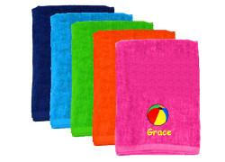 Kids Personalized Beach Towel