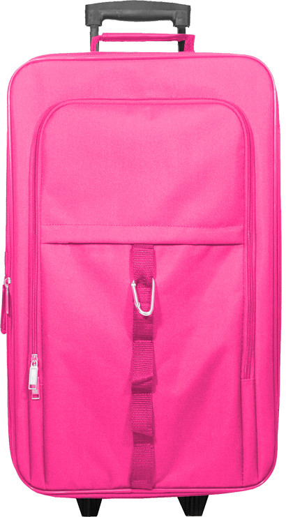 Pink Kids Travel Zone Large Rolling Carry-on