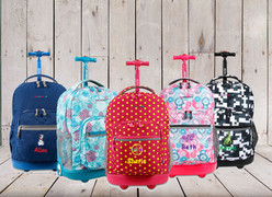 Personalized Kids 19 Inch Rolling Backpack