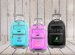 Personalized Kids 20 Inch Rolling Backpack Samples