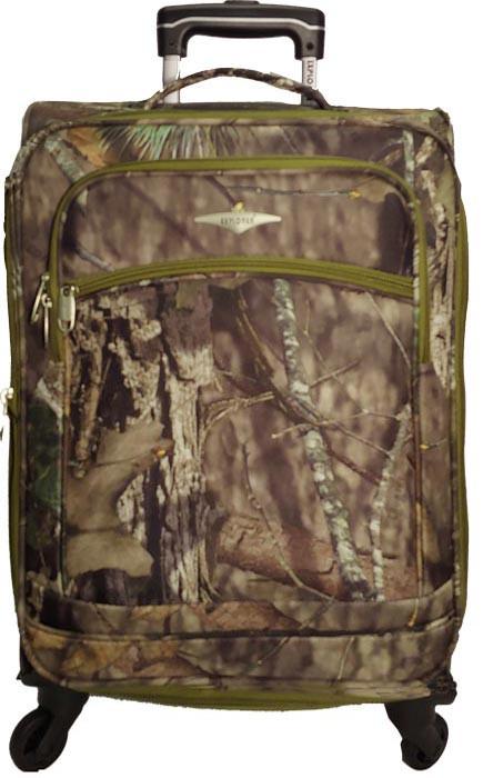 Kids Mossy Oak 4 wheel Suitcase