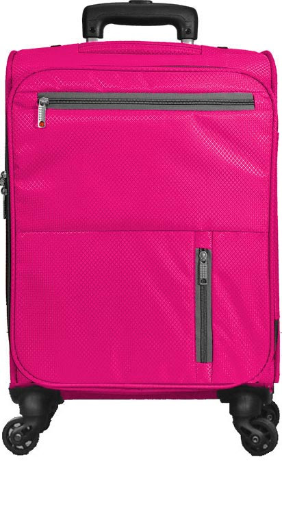 Kids 4 Wheel Carry-On in Hot Pink