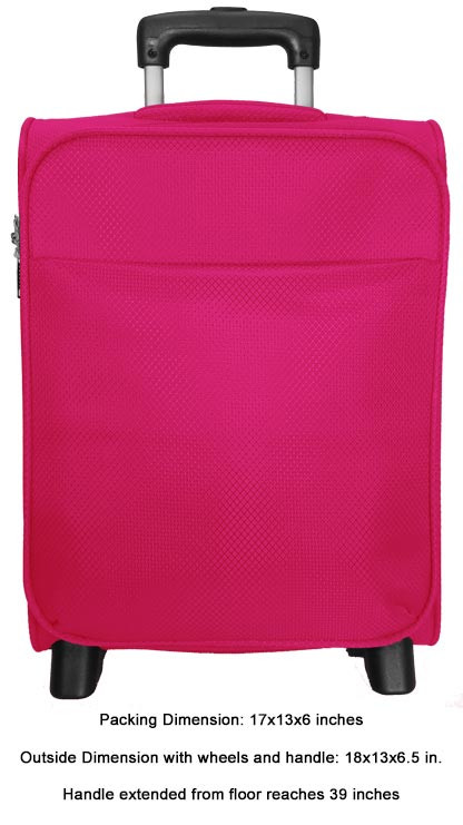 Kids Small 2 Wheel Carry-on with Dimensions
