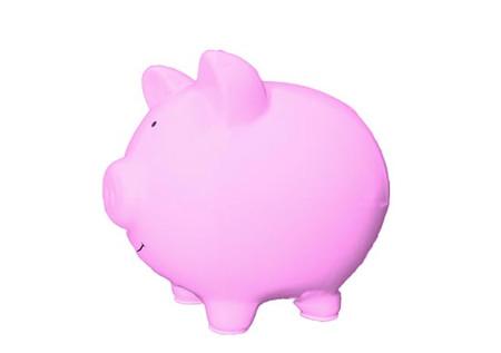 Side pink Piggy Bank