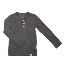 Henley Long Sleeve - Charcoal