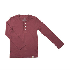 Henley Long Sleeve - Rusty Red