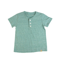 Slubbed Henley - Green