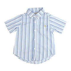 Blue Striped Short Sleeve Shirt
