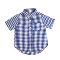 Checkered Short Sleeve Shirt - Royal