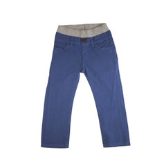 Poplin Pants - Royal Navy Garment Dyed