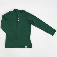 Henley Long Sleeve - Hunter Green