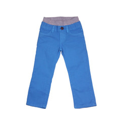 Poplin Pants - Aqua Garment Dyed