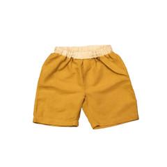 Organic Linen Shorts - Mustard