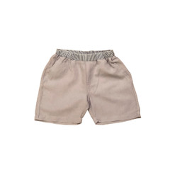 Organic Linen Shorts - Light Grey