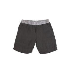 Organic Linen Shorts - Charcoal