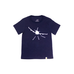 Organic Cotton T-Shirt - Airplane Print in Navy