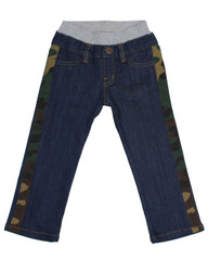 Camo Side Stripe Dark Wash Denim