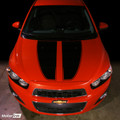 2012 & up Chevrolet SONIC Hood Stripes Decal Chevy AVEO
