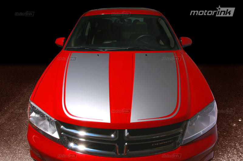 2008 2014 Dodge Avenger Hood Blackout Split Pinstripe