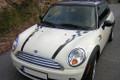 "2007-2013 MINI Cooper Bonnet Rally Racing Side Checkered ""Porshe"" Style Stripes"