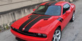 2008-2014 Dodge Challenger Hood Roof Trunk Rally Racing Stripes & Fender Side Stripes Decals