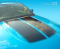 2010-2012 Ford Mustang Hood Scoop Cowl Split Stripes Decals Blackout