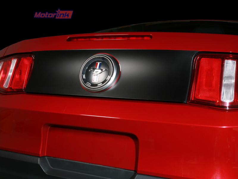 2010-2012 3M Black Carbon Fiber Ford Mustang Trunk Lid Blackout decal stripe
