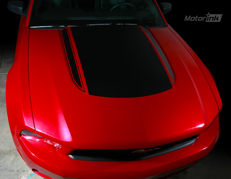 Ford Mustang Hood Cowl Scoop Accent U-Stripe Decal 2005 2006 2007 2008 2009