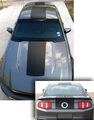 2010-2012  Mustang Over the top Rush Style Solid Stripe.