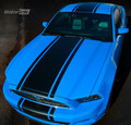 2013-2014 Ford Mustang  Center Over-the-Top Rally Racing Stripes Decals