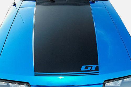 1979 1993 Ford Mustang Gt Hood Stripe Decal 87 93 Fox Body Matte Black