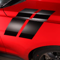 2015 2016 Ford Mustang Hood to Fender Side Hash Double Stripes Decals