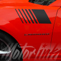 2014-2016 Chevy Camaro Hash Marks Fender Strobe Side Stripes Decals Graphics