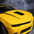 2014-2015 Chevy Camaro Hood Cowl Side Spears Accent Stripes Decals Blackout 3M