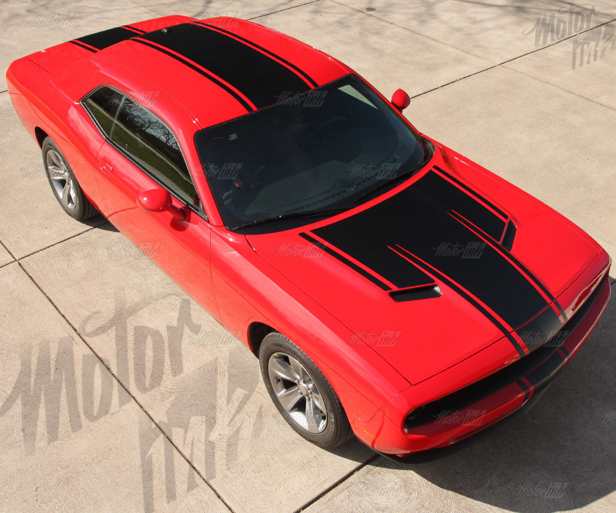 7 Best Chevy Colorado 2016 2017 Vinyl Graphics Stripes: 2015 2016 2017 Dodge Challenger Rally T Hood Solid Racing