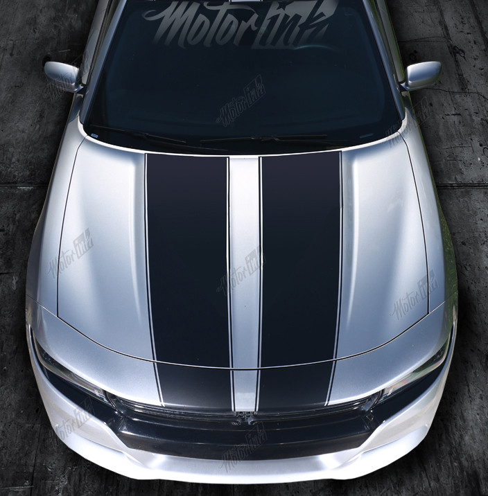 Dodge Charger 2015-2017 Hood Accent Decals Stripes Choose Color