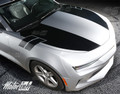 2016 2017 Chevy Camaro Hood to Fender Side Stripes Rally Blackout Decals Accent