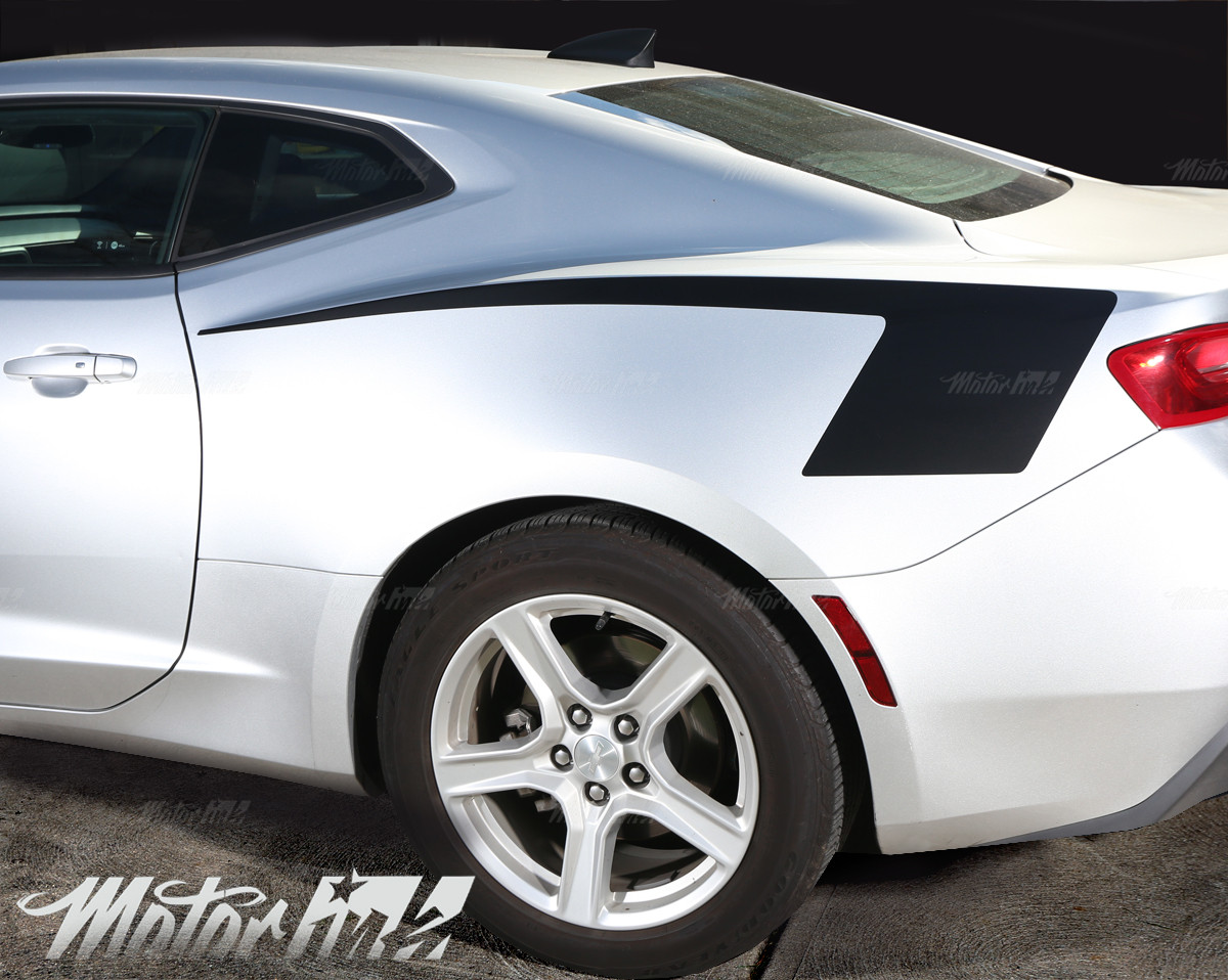 2010 2011 2012 2013 Chevy Camaro Rear Quarter Side Panel Hockey Stripes decals