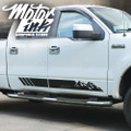 F150 2009- 2014 Side Rocker Panel Mountain Rally Stripes Decals Graphics
