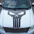 F150 2009-2014 Punisher Skull Hood Blackout Racing Rally Stripes Decals