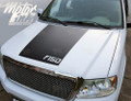 2009-2012 2013 2014 Ford F150 Hood Blackout Racing Rally Stripes Decals Graphic