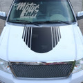 2009-2014 Ford F150 Hood Strobe Blackout Racing Rally Stripes Decals Graphic