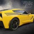 2014+ Chevy Corvette C7 Bodyline Strobe Side Stripes Racing Rear Fender Decals