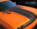 2008-2014  Dodge Challenger T-Hood Strobe Stripes Blackout Decals