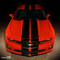 2010 2011 2012 2013 Chevy Camaro Double Pace Rally Racing Stripes Decals